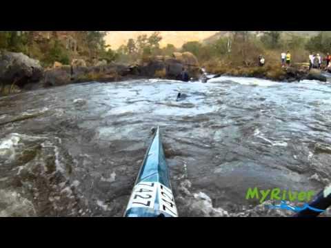 """The Waterfall"" Rapid - Umgeni River, Table Mountain (9 cumecs)"