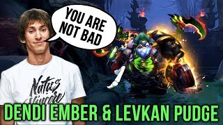 Pudge Legend Dendi Playing with Best Pub Pudge Levkan, 4600 Matches with Pudge Dota 2