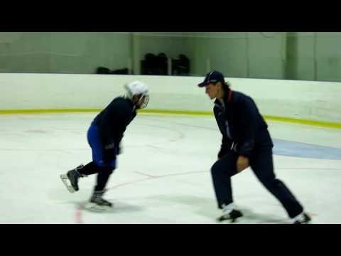 Маневренное катание для игры в хоккей