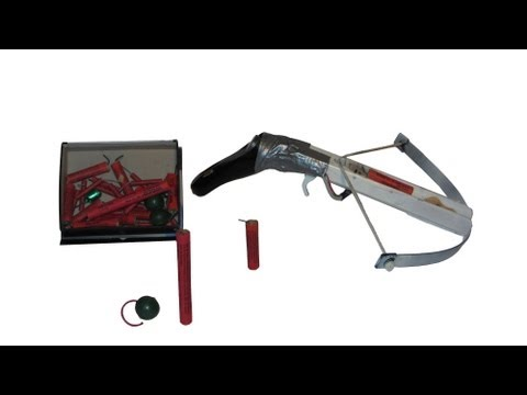 Homemade Crossbow with Firecrackers