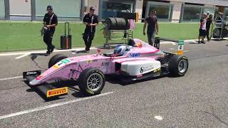 going to the grid, F4 Italian Championship, Vallelunga, June 2017