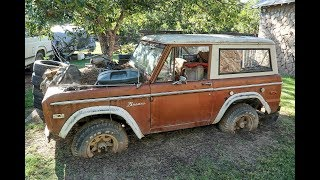1975 Ford Bronco Yard Find Wheels Sunk In Earth