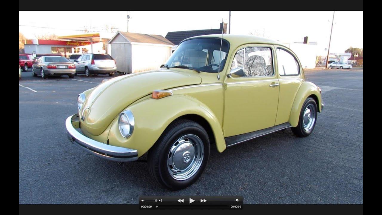1973 Volkswagen Super Beetle (VW 1303) Start Up, Exhaust ...