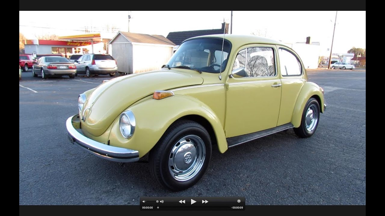 1973 volkswagen super beetle vw 1303 start up exhaust. Black Bedroom Furniture Sets. Home Design Ideas