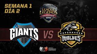 [ESP] Giants Gaming vs Copenhagen Wolves- LCS EU- Week 1 Day 2