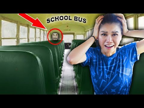 HACKER TRAPPED ME in ABANDONED SCHOOL BUS (Escape Room Challenge and Mystery Clues)