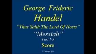 5 Handel Messiah Part 1 Thus Saith The Lord Score