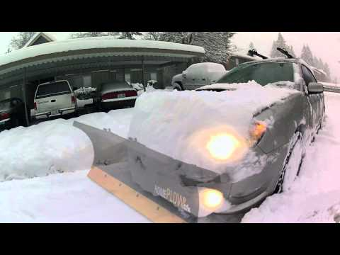Subaru WRX Snow Plow - 2012 Washington Snowstorm