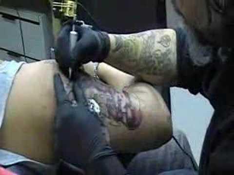 The Dark Knight movie - Clown gangster henchmen masks. Gangsta Style tattoos