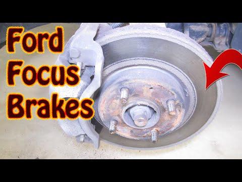 DIY Ford Focus Front Disk Brake Replacement ~ Brake Pads & Rotor Replacement