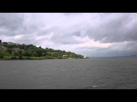 Boat Trip Towards Dundee Tay Estuary Scotland