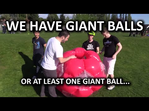 Giant Inflatable Soccer Ball - Kicking Linus While He's Down