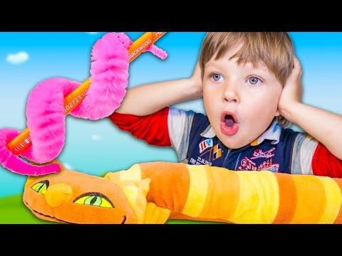 Как работает ПУШИСТИК БАЙЛА? Разные трюки, обучение. Видео для детей