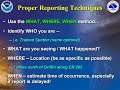 Tips for making Severe Weather Reports