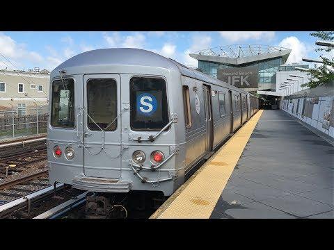 NYC Subway 60fps: Weekend Summer R46 Rockaway Park