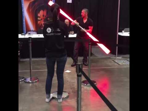 Ray Park with Makoto saber