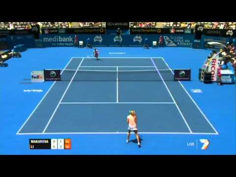 Ekaterina Makarova v Na Li Highlights Women's Singles First Round: Sydney International 2012