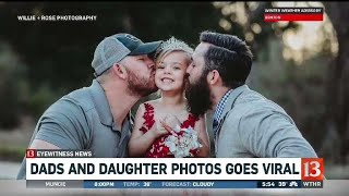 Dads and daughter photos goes viral