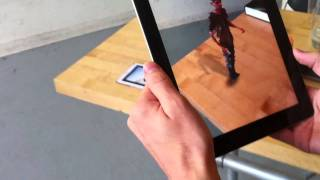 Augmented Reality 3d Video on iPad with Kinect