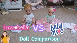 Doll Comparison: Luvabeau VS Baby Alive Real As Can Be | Kelli Maple