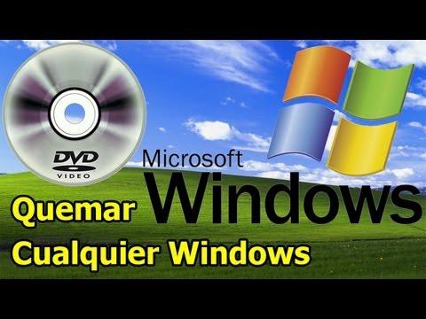 Como Quemar una imagen .ISO de Windows en un DVD