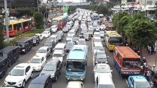 amazing traffic in Jakarta city