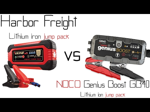 Harbor freight lithium iron jump pack booster VS NOCO Genius Boost GB40 jump pack / booster - Review