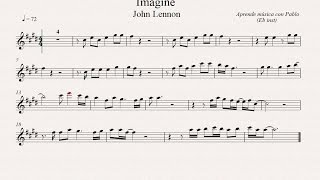 IMAGINE:  Eb Inst (saxo alto, saxo barítono...) (partitura con playback)