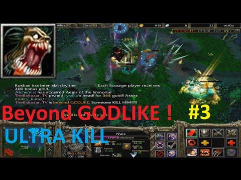 DotA 6.83d - Lifestealer, Nai'x Beyond GODLIKE ! #3 ( ULTRA KILL) | dota naix