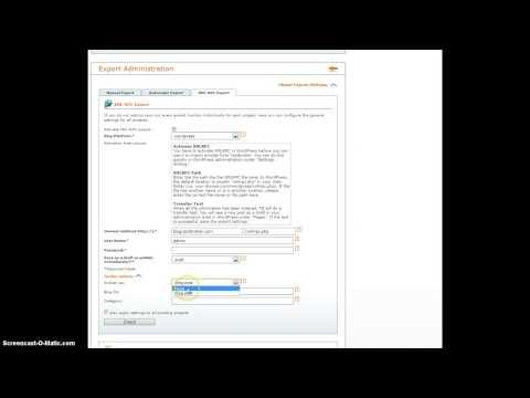 Export to WordPress with XML-RPC