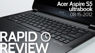 Acer Aspire S5 Review