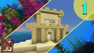 Sandcastle Starter House! | Vanilla Minecraft 1.13 Survival Let's Build [Episode 1]