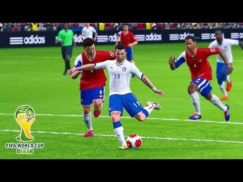 PES 2014 - Brazil 2014 Simulation - Costa Rica vs. Italy