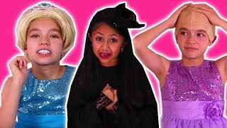 COMPILATION: Princess Pranks - Magic Hair Disaster & MORE - Princesses In Real Life | Kiddyzuzaa