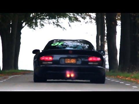 (HD) Dodge Viper GTS Heffner 650 - FIRE. Epic Accelerations !