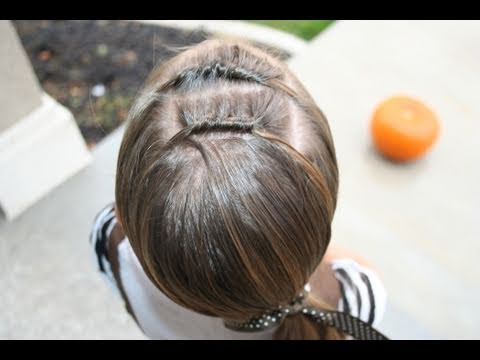 Double Knots into Side Ponytail | Cute Girls Hairstyles