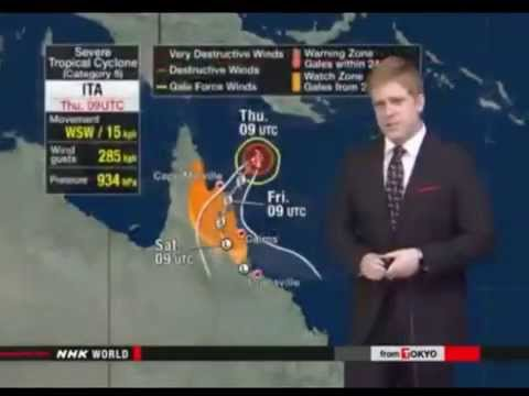 Severe Cyclone Ita Nearing Australia Thursday Night