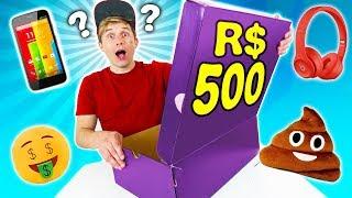 O QUE TEM NUMA CAIXA MISTERIOSA DE R$500 ? 📦