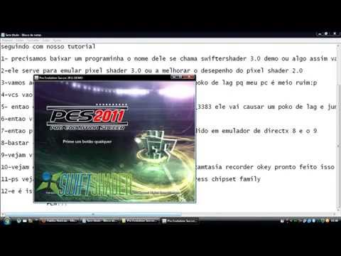 como rodar pes 2013 sem placa de video(how to run pes 2013 (without video card)