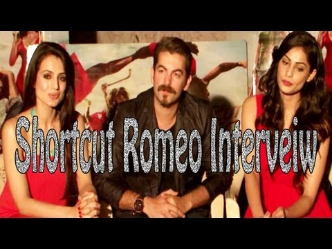 Red Hot Ameesha Patel & Puja Gupta Interview For Film ''Shortcut Romeo''