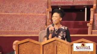 Brandy Norwood Sings at Brenda Marsh-Mitchell Home Going Service