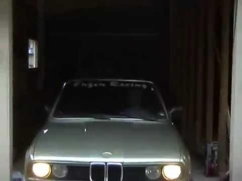 BMW 325i Turbo drifting on public street