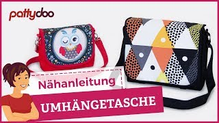 Umhängetasche & Kindergartentasche selber nähen: pattydoo tutorial #10