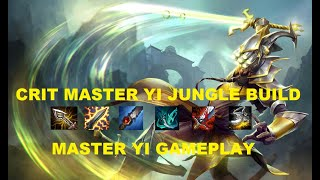 League Of Legends | 3 Jungle New Meta? Crit Master Yi Gameplay!