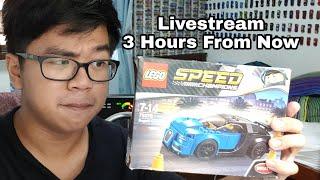 Building A Lego Bugatti Chiron LIVESTREAM HEADS UP
