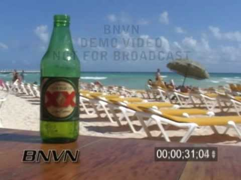 1/22/2007 Playa Del Carmen, Mexico - General Bar Beach B-Roll Video