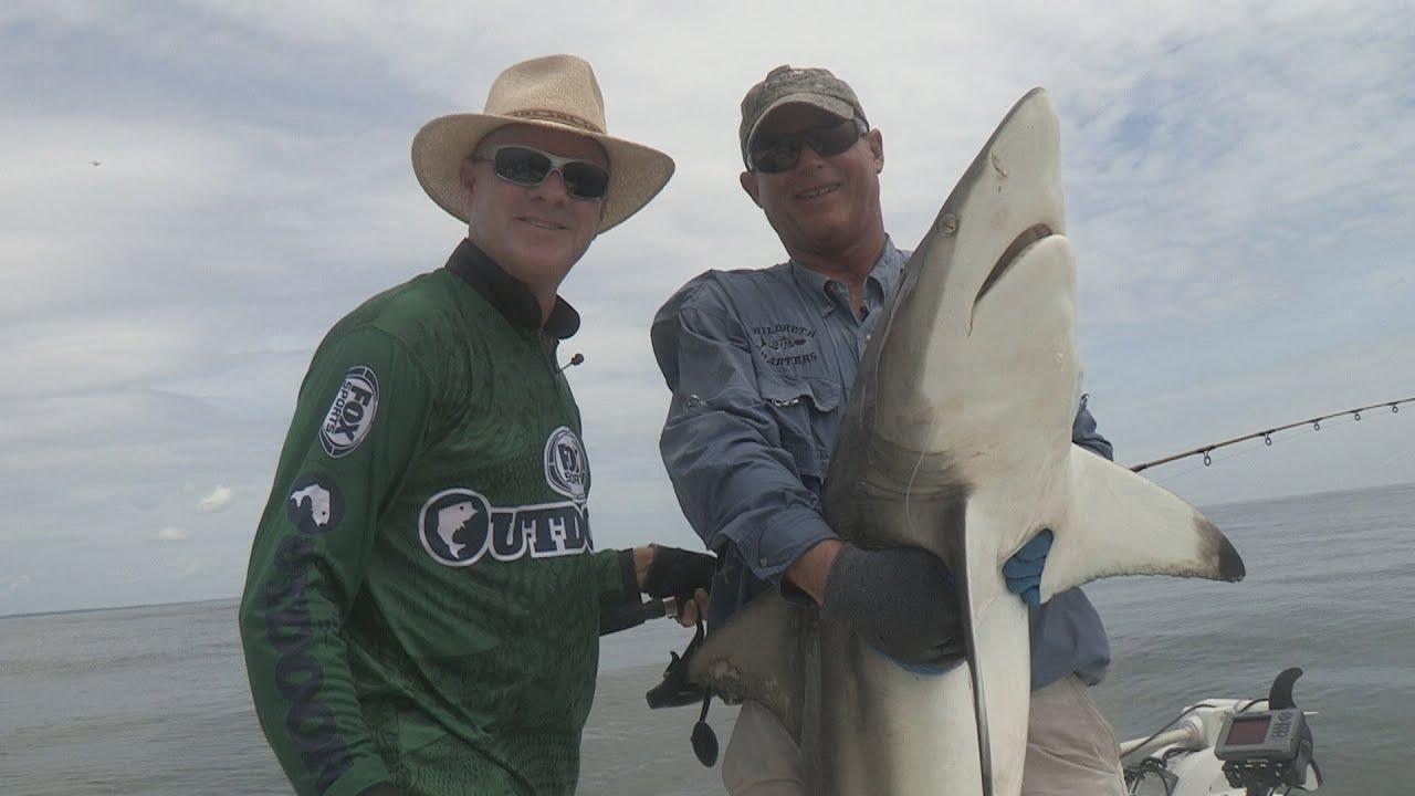 Fox Sports Outdoors SOUTHEAST  35   2014 St  Simon s Island  Georgia Shark Fishing