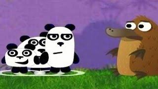 Три ПАНДЫ мультфильм – Мультик ИГРА для детей НОЧЬ 1 серия