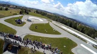 DJI Phantom - DYS Smart 3 - Mobius Wide - 1st flight - Avtoslalom Ljubečna 2014