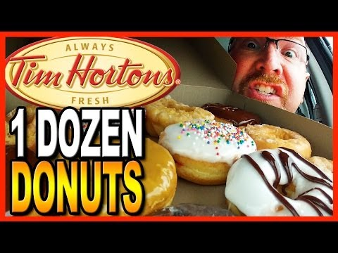 Tim Hortons ♥ 12 Donut Review and Challenge ♥